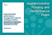 Apprenticeship Funding and Performance Rules