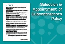 Selection & Appointment of Subcontractors Policy